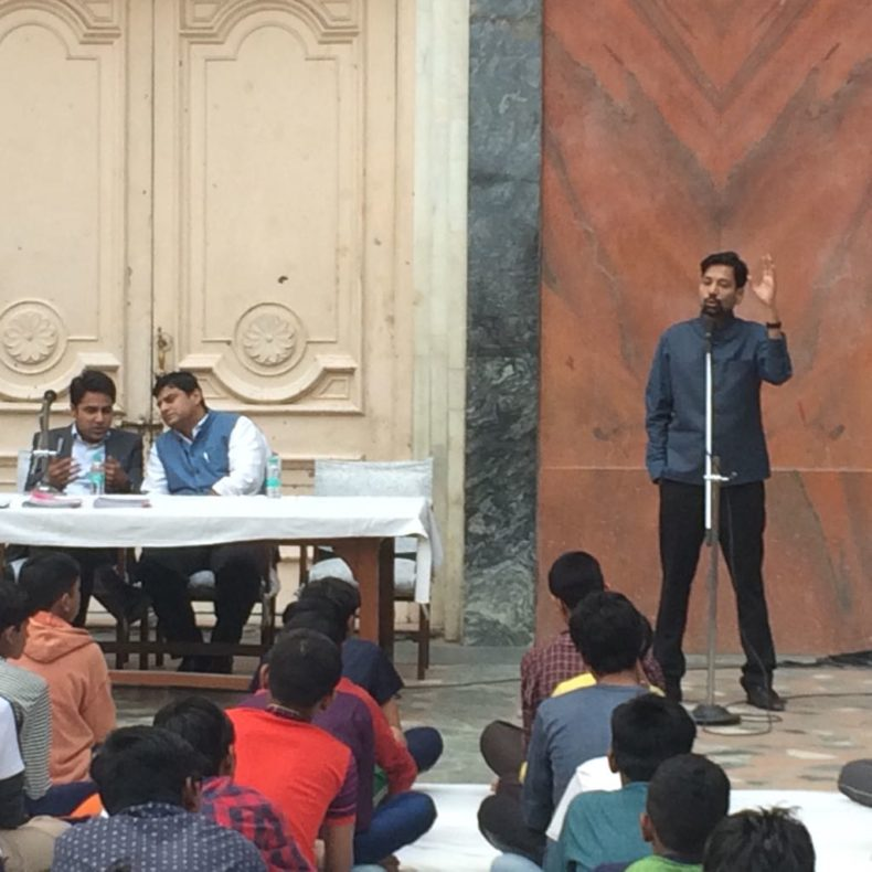 "In the observance of Legal Services Day campaign connecting to Serve and children Day (14 Nov) Central DLSA and West DLSA jointly organised Legal Awareness Programme on the topic of ""Availability of Free Legal Services "" and Law for Children at Arya Home for Children, Pataudi House, Darya Ganj, Delhi."