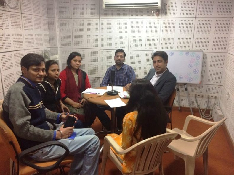In the observance of Legal Services Day (09 Nov) & Campaign to Serve. Central and West DLSA jointly organised Community Radio Programme at Delhi University Community Radio 90.4 FM on 16-10-2017. Sh. Sandeep gupta. Ld Secretary Central District and sh. Vinod Kumar Meena Ld. Secretary, West District informed about availability of Free Legal Services and functioning of DSLSA.