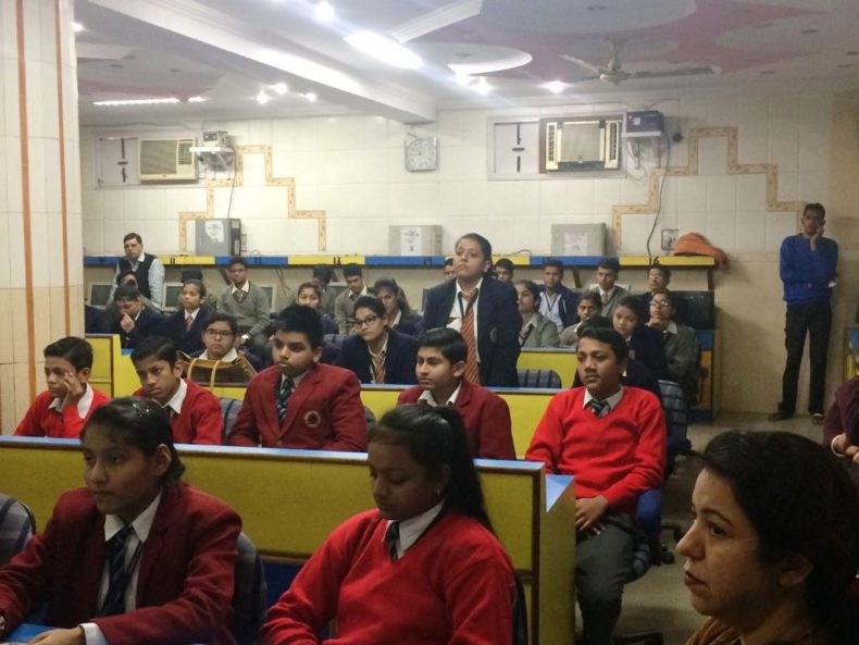 Central DLSA organised Legal Literacy Class son Drug Abuse & related topics at Virender Public School, Delhi on 06-12-2017.