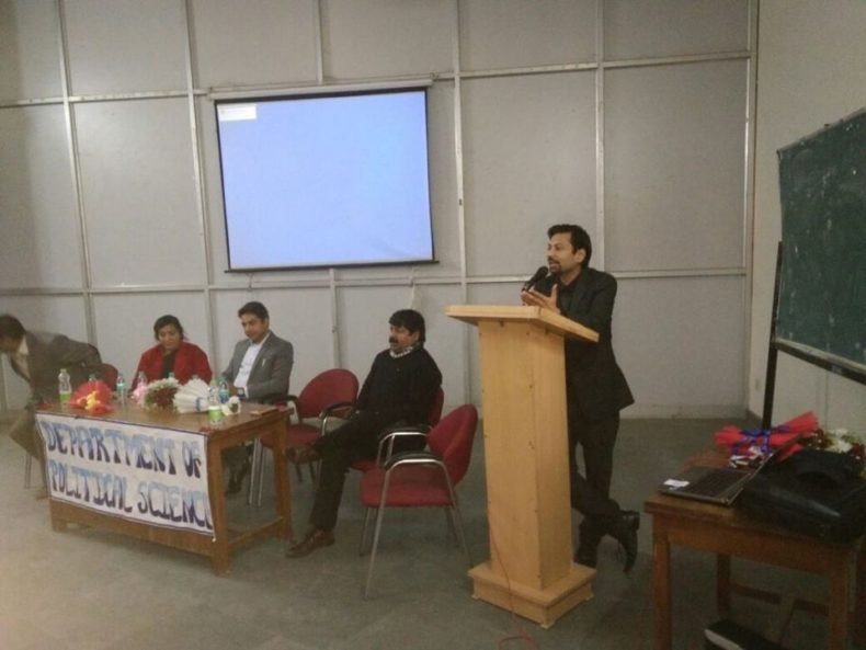 "Central & West DLSA jointly organised an Legal awareness programme on the topic ""Protection of women from Domestic Violence Act 2005 and DSLSA functions"" at SPM College, University of Delhi."