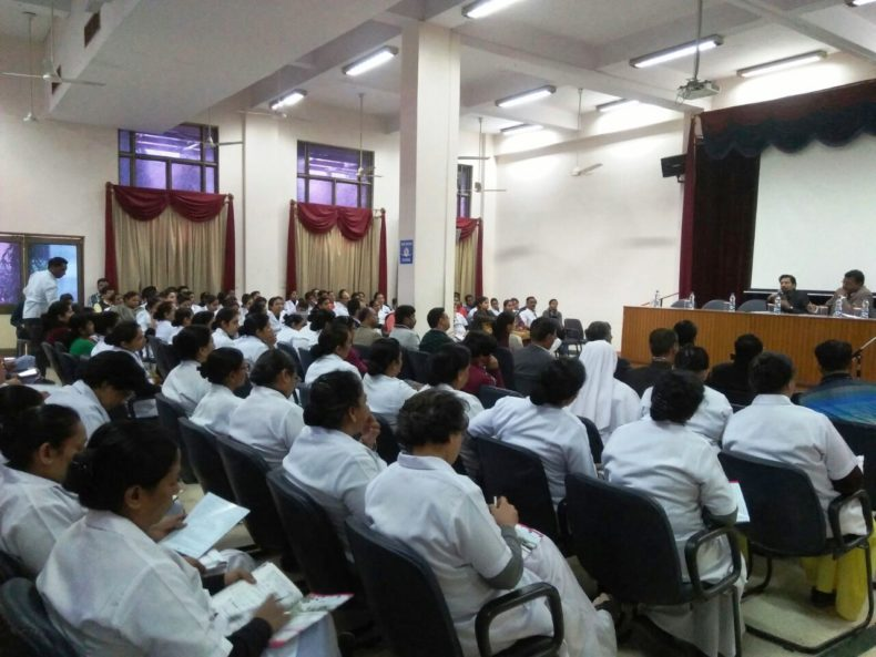 """Central DLSA organised Legal Awareness Programme for doctors and Medical Staff on the topic """"Free Medical & Legal to the Victims of Acid Attack and Sexual Violence"""" at St. Stephen's Hospital, Delhi."""