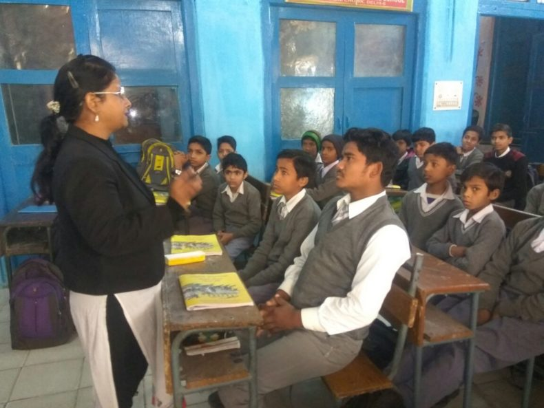 """Central District Legal Services Authority organised a Legal Literacy Class on 29-01-2018 At 9:00 am in Govt. Co-ed Secondary School on the topic of """"Water Conservation"""""""