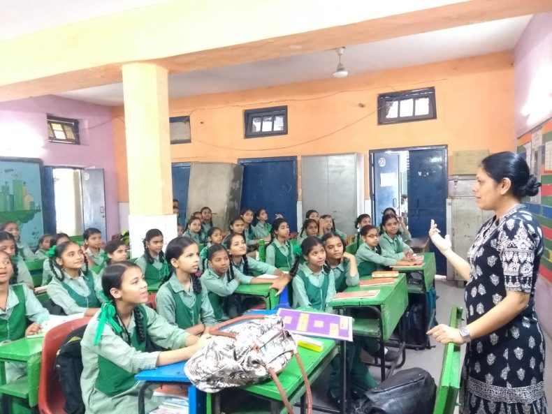 Central District Legal Services Authority organised a Legal Literacy Class in GGSSS, Ram Nagar,