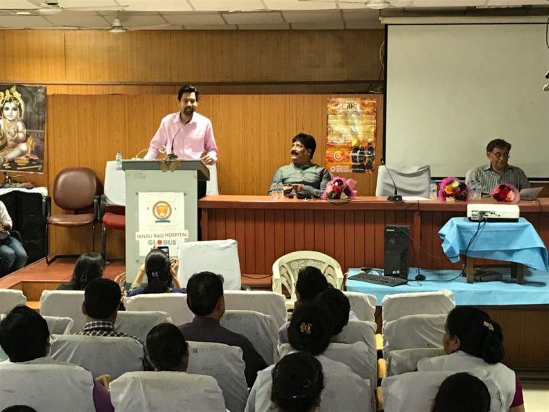 """Central DLSA organised Legal Awareness Programme for Doctors and Medical Staff on the topic of """"Free Medical & LEgal Aid to the Victims of Acid Attack"""" At Bara Hindu Rao Hospital."""