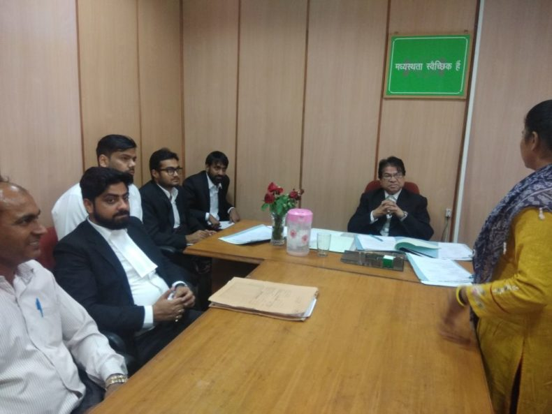 Central District Legal Services Authority organised 8 Days Visit to Mediation Centre for student of Campus Law Centre