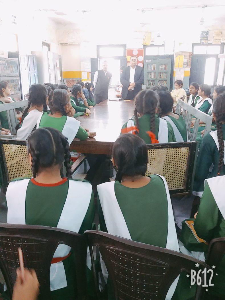 Central DLSA organised a Legal Literacy Programme at Sarvodaya Kanya Vidhalaya No. 2 Zeenat Mahal, Hauz Qazi, Delhi