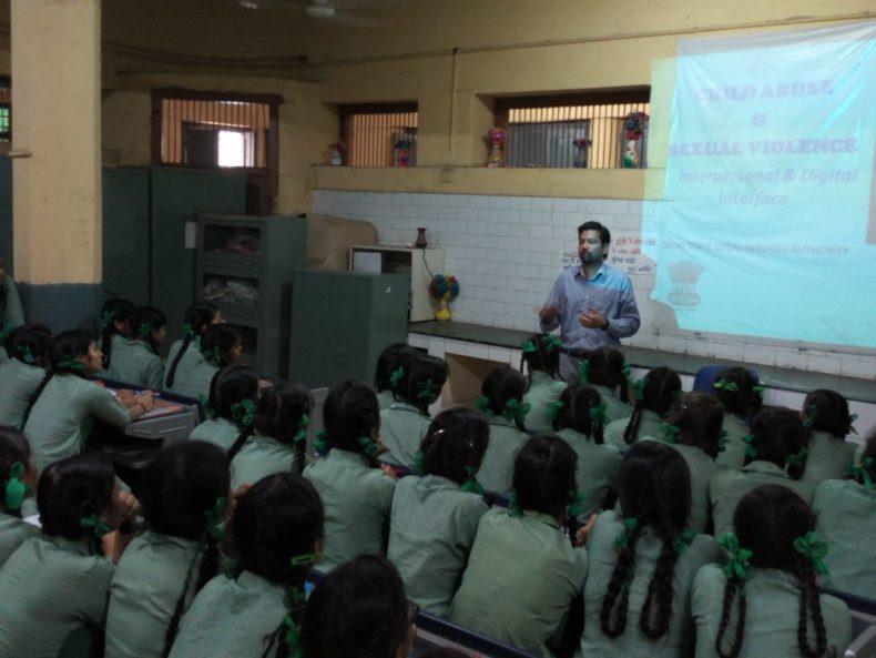 Central District Legal Services Authority Organised a Legal Literacy Class in Govt. Girs Senior Secondary School Ram Nagar, Pahar Ganj