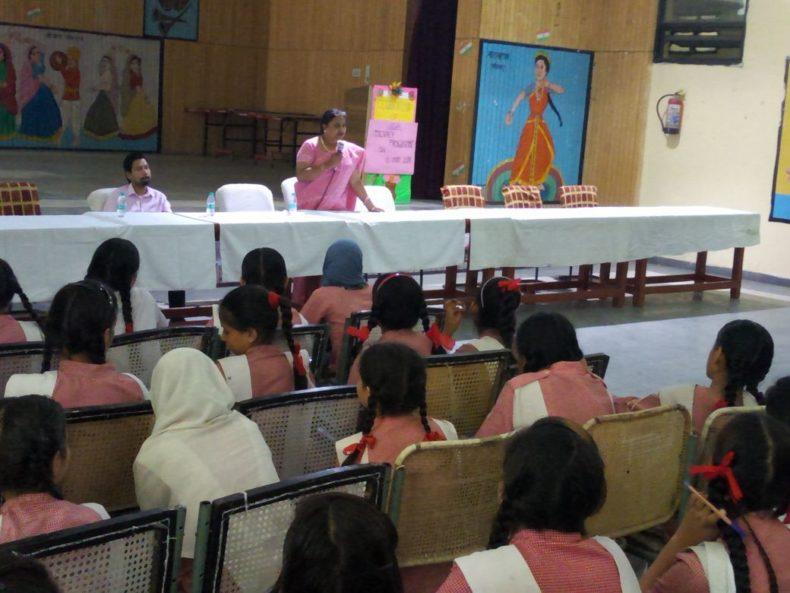 Central District Legal Services Authority Organised a Legal Literacy Class in Govt. Girls Senior Secondary School, Pataudi House