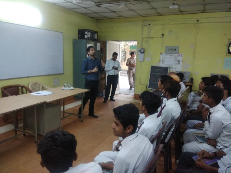 Central District Legal Services Authority Organised a Legal Literacy Class in Govt. Boys Senior Secondary School Mata Sundri Road.