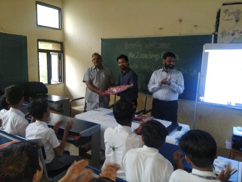 entral District Legal Services Authority Organised a Legal Literacy Class in Govt. Boys Senior Secondary School, Bela Road Darya Ganj.