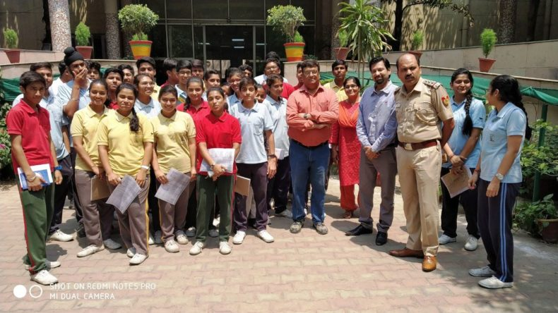 Central District Legal Services organised visit for 35 students of ST. Michel School , Pusa Road, Police Station Rajinder Nagar,