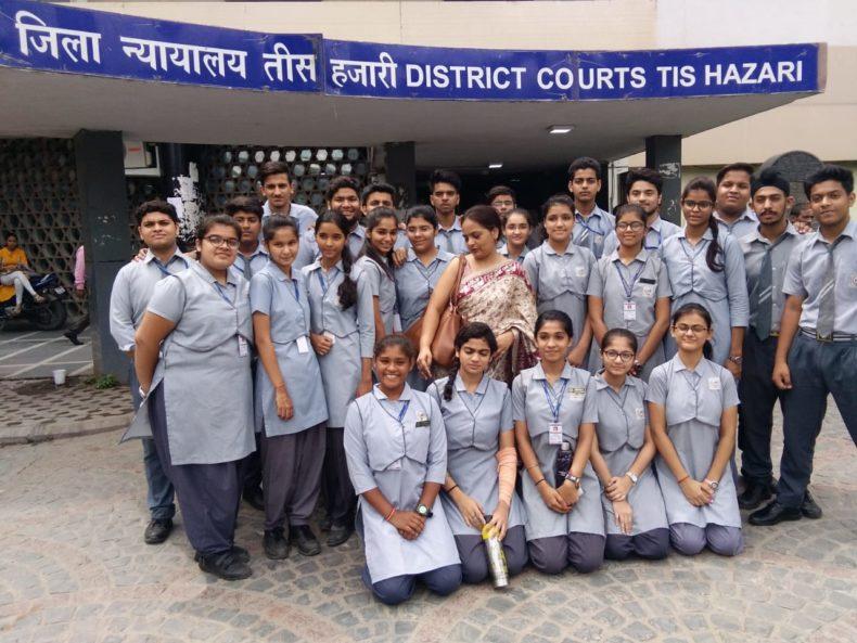 CDLSA organised school visit for students of Leelawati vidya mandir Sr Secondary School, Shakti Nagar on 31.08.2018