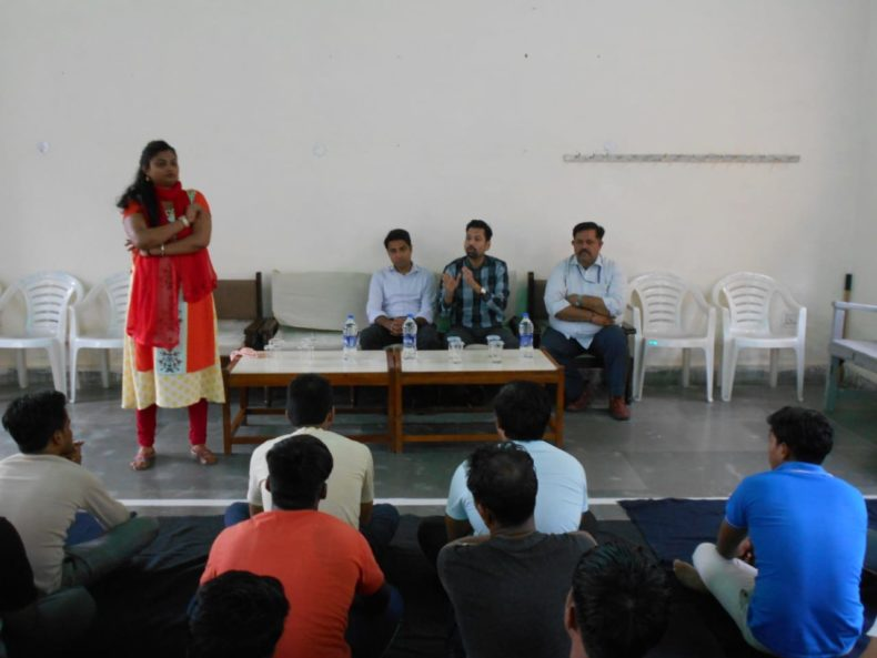 Central DLSA organized Awareness programme for the inmates of jail no. 3 of Tihar jail on the topic 'Drugs and substance Abuse'. Ms. Janvi, an Expert from SPYM
