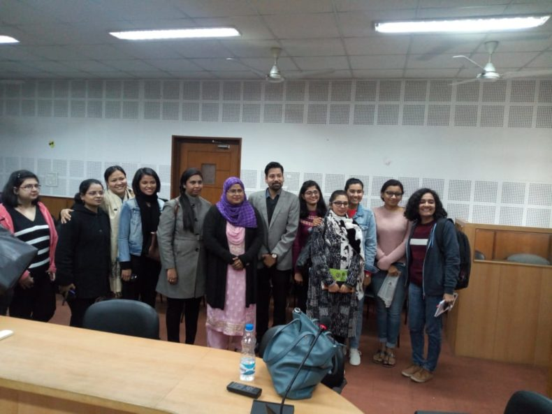 Central DLSA organized legal awareness programme, in the observance of National Day for Girl Child on the topic Pre Conception, Pre Natal and Diagnostic Techniques Act at Indra Prastha College, Delhi University on 24.01.19