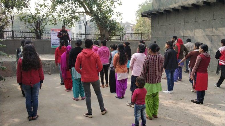 Central DLSA in association with North West DLSA organized self defence training programme for 10 days for girls at Delhi Shehari Ashray Sudhar Board, Basti Vikas Kendra, Sultan Puri, Delhi from 05.02.19 onwards.