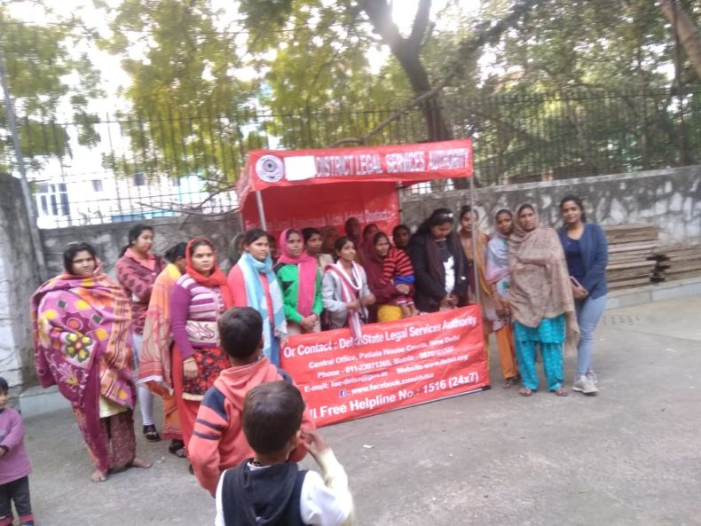Central DLSA set up a Help Desk for women at Women Shelter Home , Kabir Basti, Malka Ganj on 11.02.19 from 3:30 p.m. Panel advocates of CDLSA disscussed the issues