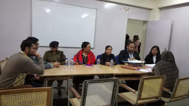 Central DLSA  in association with NCW organized a Jan Sunwai at  STC Police Station Rajender Nagar