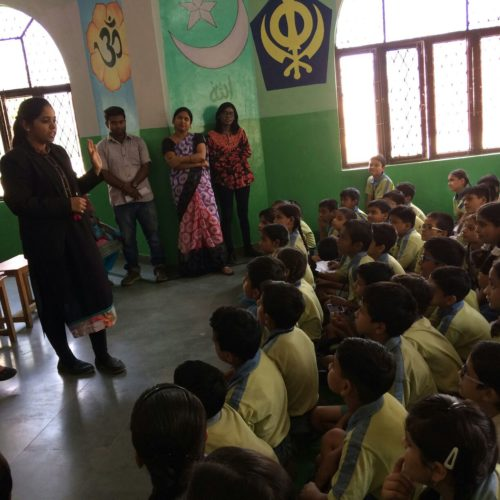 """DLSA (East) in association with DCPU (East) organised a Special Awareness Programme for the school students at Sunder Public School, Delhi on 18.8.2017 on """"POCSO Act"""" by deputing Ms. Payal Raghav, LAC as Resource Person.  She addressed the students on the topic and also had interactive session with them.  The programme was appreciated by all concerned."""