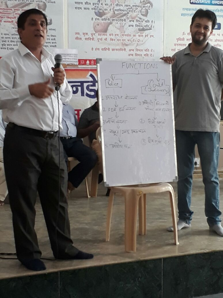 """DLSA East in association with  """"Samrasta Foundation – NGO"""" on 12.08.2017  at   Shishu Bharti Vidyalya, Gandhi Nagar Delhi  onwards by conducting a followed by an Awareness Programme  a """"International Youth Day"""" on the topic """"Drugs & Substance Abuse &  POCSO and Set up of Police station & Judicial system"""". Sh. Charan Jeet, LAC (DLSA)/East, was the Resource Person for the said programme who participated in Awareness Programmer delivered lecture and had interactive session with the participants. The programme was appreciated by all concerned."""