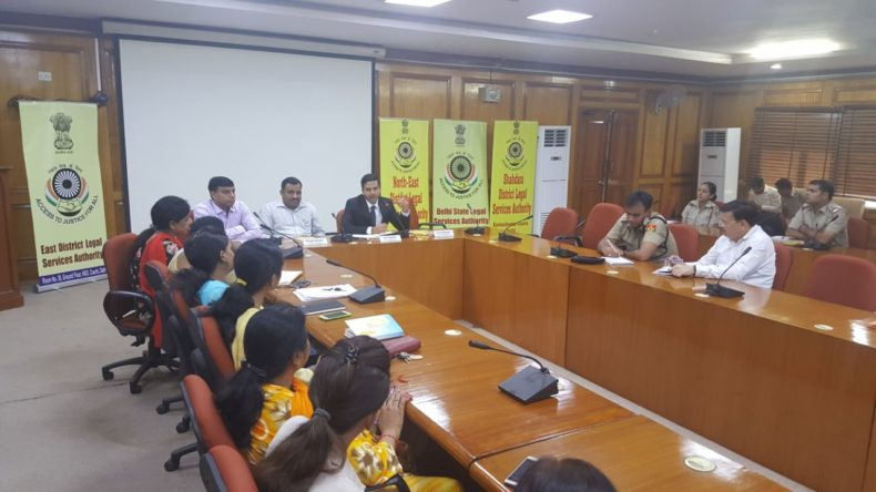 """DLSA East in association with DLSA (N/E) & DLSA (Shahdara) organised a Sensitization-cum-Training Programme for the Police Officers of all the three district on 21.9.2017 at 3:30 pm onwards at Conference Room, Karkardooma Courts, Delhi.  The topic of the programme was """"The Young Stakeholders : Minor Victims and Children in conflict with law"""" with emphasis on Juvenile Justice Act, 2015 and POCSO Act 2012.  Several queries were made by the Police Officers during the programme which were satisfactorily responded to by Secretaries of all the three DLSAs at Karkardooma Courts at Resource Persons. The programme was appreciated by all concerned"""