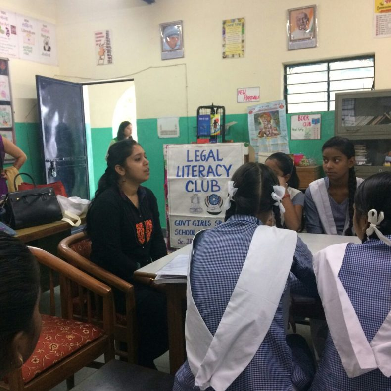 """DLSA (East) in association with School Authorities observed """"International  Day for Girl  Child"""" for Girl Students of Government Girls School by organising Legal Literacy Classes on  the topic """"Right to Education & Special Rights of Girl Child""""  on 11.10.2017 by deputing  Ms.  Payal Raghav,  LAC (DLSA)/East as Resource Person.  Resource Person addressed the participants on the topics and also had interactive session with them.  The programme was appreciated by all concerned."""