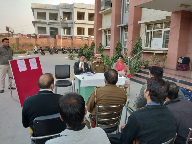 DLSA (East) in association with Police Authorities of Police Station : New Ashok Nagar organised an Awareness Programme on the topic of Rights of Physically Challenged Persons on 30.1.2018 by deputing Ms. Vidya Sevda, LAC (DLSA)/East as Resource Person.