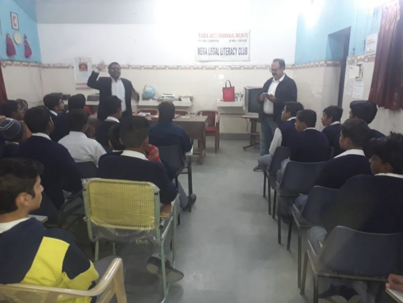 DLSA (East) in association with District Education Authorities organised an Awareness Programme on the topic of Water Conservation Module on 8.2.2018 at Govt School, SBV, Jheel Khuranja, by deputing Sh. Umesh Gupta, Adv as Resource Person.