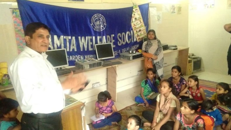 "DLSA East in association with ""Mamta Welfare Society ( Regd.)"" conducted an Awareness-cum-Legal Literacy Programme on the topic  ""Right to Education & Services being provided by DLSA"" on 03.04.2018 at 12:00 pm  at E-20B,  467, Jawahar Mohalla, Basti Vikas Kendra, patparganj, Delhi.  Sh. Charan Jeet, LAC (DLSA)/East, Karkardooma Courts, Delhi was the Resource Person who  delivered lecture and had interactive session with the participants.  The programme was appreciated by all concerned."