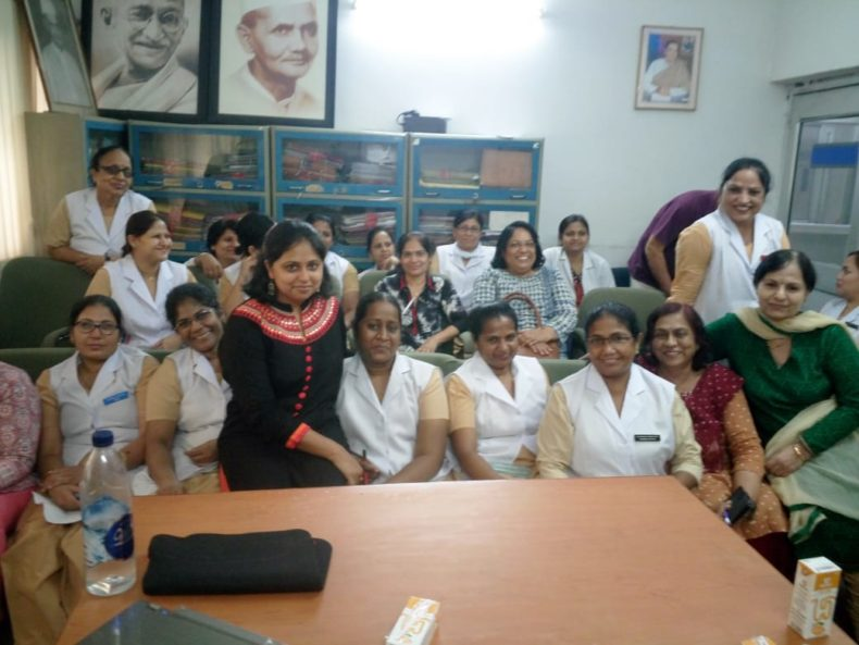 """DLSA East in association with """"Lal Bahadur Shastri Hospital"""", Khichripur, oeganized an Awareness-cum-Sensitization Programme on the topic """"Sexual Harassment at Workplace"""" on 30.5.2018 at 12:30 pm onwards for Doctors and staff of the hospital by deputing Ms. Shilpa Dalmia, Advocate as Resources Person.  She delivered lecture and had interaction with the participants. The programme was appreciated by all concerned."""