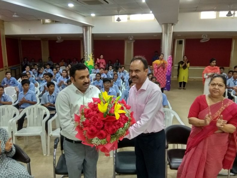 """In compliance of directions of DSLSA, DLSA (East) in association with District Education Authorities organised an Awareness-cum-Sensitization Programme at """"Mayur  Public  School, Behind Mother Dairy Plant, Pandav Nagar (co-ed), Delhi  for the students of the school on """"Sexual  Violence  Module"""" on 11.05.2018.  Sh. Pawan Kumar, Secretary (DLSA)/East was the Resource Person for the programme who addressed a big number of  students through lectures, PPTs, Videos etc. and had interaction with them."""