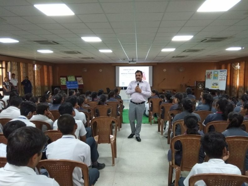 """In compliance of directions of DSLSA, DLSA (East) in association with District Education Authorities organised an Awareness-cum-Sensitization Programme at """"Somerville School, Vasundhara Enclave, Delhi  for the students of the school on """"Sexual  Violence  Module"""" on 09.05.2018.  Sh. Pawan Kumar, Secretary (DLSA)/East was the Resource Person for the programme who addressed a big number of  students through lectures, PPTs, Videos etc. and had interaction with them."""