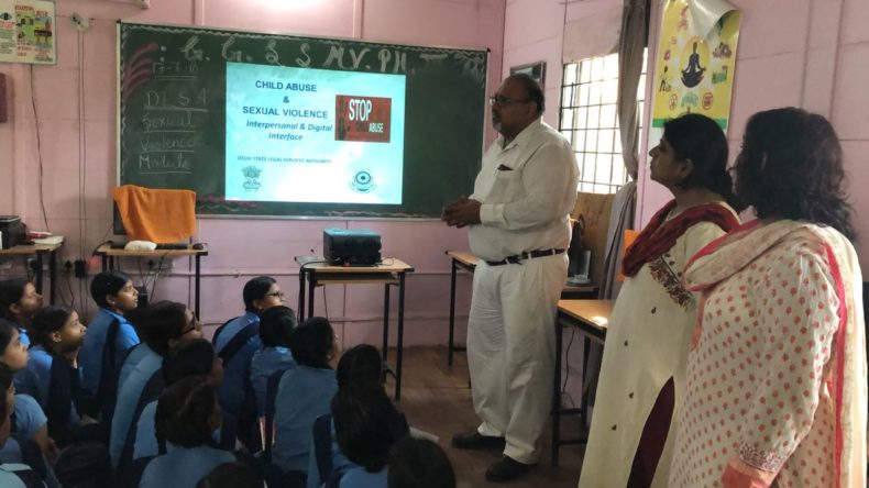 "In compliance of directions of DSLSA, DLSA (East) in association with District Education Authorities organised an Awareness-cum-Sensitization Programme at ""GGSS,  Mayur Vihar, Phase-III, Near Bharti Public School  for the students of the school on ""Sexual Violence Module"" on 17.07.2018.  Sh. Sanjay Gupta, LAC (DLSA)/East was the Resource Person for the programme who addressed a big number of  students through lectures, PPTs, Videos etc. and had interaction with them."