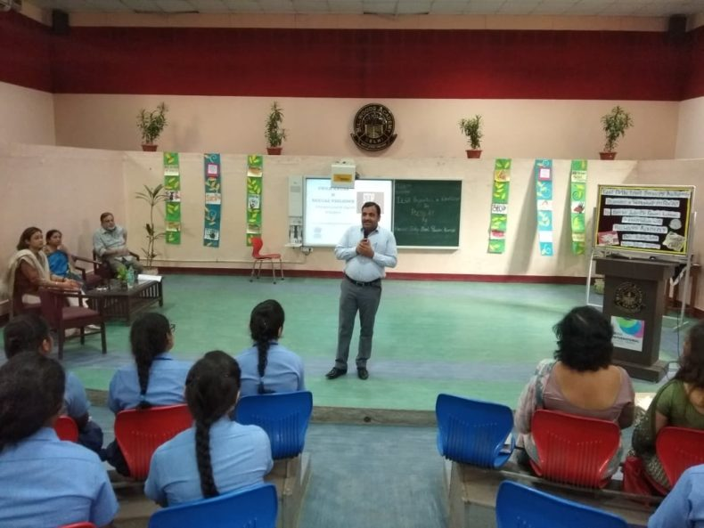 "In compliance of directions of DSLSA, DLSA (East) in association with District Education Authorities organised an Awareness-cum-Sensitization Programme at ""HILLWOOD ACADEMY, Preet Vihar, Delhi for the students of the school on ""Sexual  Violence  Module"" on 11.07.2018.  Sh. Pawan Kumar, Secretary (DLSA)/East was the Resource Person for the programme who addressed a big number of  students through lectures, PPTs, Videos etc. and had interaction with them."