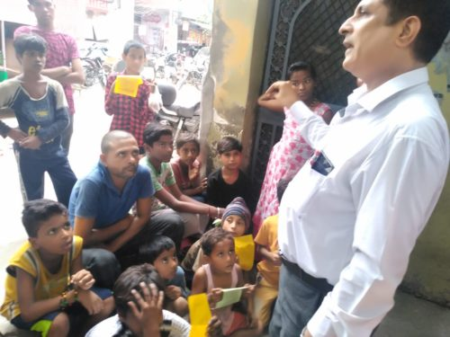 "DLSA (East) in association with CFAR organised an Awareness Programme at Community Level on the topic ""Drug  & Substance Abuse & Services being provided by DLSA"" on 20.08.2018 at 04 :00 pm at Block-20, Kalyanpuri, Delhi. Sh. Charan Jeet, LAC (DLSA)/East was the Resource Person assisted by Ms. Dolly, PLV & Ms. Suman, PLV who delivered lecture and had interactive session with the participants."