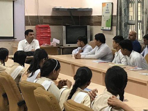 "In compliance of directions of DSLSA, DLSA (East) in association with District Education Authorities organised an Awareness-cum-Sensitization Programme at ""RPVV Gandhi Nagar Delhi for the students of the school on ""Sexual  Violence  Module"" on 20.08.2018.  Sh. Satish Sharma (DLSA)/East was the Resource Person for the programme who addressed a big number of  students through lectures, PPTs, Videos etc. and had interaction with them."