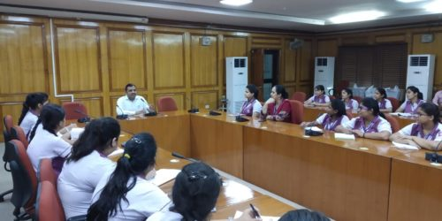 """DLSA (East) organised a Court Visit of students of """"MOTHER MARY's,  SCHOOL,  MAYUR VIHAR PHASE-I"""" on 28.09.2018 at 10:30 am onwards. Various Courts  Mediation Centre, DLSA Front Office etc. were shown to the students and they also had interaction with the Ld. Sitting Judges of the Courts.  At last, the students were gathered at Conference Room of Karkardooma Courts, where the Secretary of DLSA (East) addressed them and also had interactive session with them. The students were very enthusiastic in making queries which were satisfactorily responded to by the Secretary. The visit was appreciated by all concerned."""