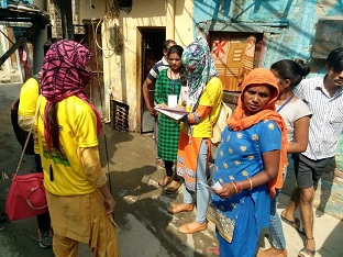 """DLSA (East) in association with  """"YUVA MANTHAN""""  NGO, have finalised to hold a  """"Two Days Door-to-Door Campaign""""  at Community Level on """"Various Services being provided by DLSA""""  by deputing  PLVs had distributed Pamphlets containing various details such as availability of Legal Services, Various Schemes of NALSA & DSLSA, Victim Compensation Scheme etc. in Cluster/Slum Area of Gandhi Nagar, Delhi on 18th & 19th  October, 2018."""