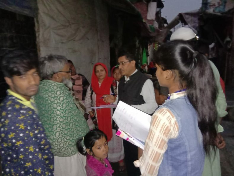 """In compliance of directions of Delhi State Legal Services Authority and as directed by the Ld. District & Sessions Judge/Chairman (DLSA)/East, to celebrate """"National Legal Services Day"""" ,   with a view to create awareness amongst masses at down trodden areas  of East District,  this Authority has Launched  a Ten days (15 Prog.) """"Door to Door Campaign"""" from 15.11.2018 to 24.11.2018.  During the campaign,  a team consisting of  Sh. Umesh  Chand Mishra, LAC & Ms. Hema, PLV & Ms. Kanta Prasad, PLV  visited  Gazipur Dairy Farm, PS- Gazipur, Delhi  and distributed pamphlets, booklets and had interaction with the general public on 15.11.2018."""