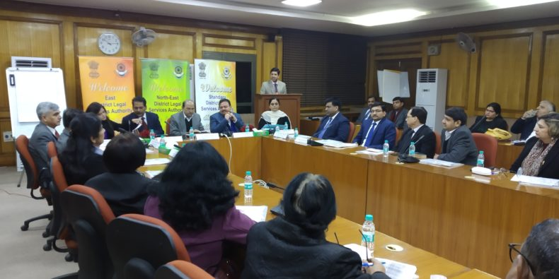 "DSLSA  in  association  with Ld. Judges In charges (Mediation Centre),  DLSA (East),  North-East & Shahdara  organized a of  ""Training Programme in respect to Pre-Institution Mediation & Settlement""  on 31.01.2019  for 68 Mediators at Karkardooma Courts,  Delhi  in two batches  Sh.  Rakesh Tewari, Ld. District & Sessions Judge/Chairperson, East, Sh. Deepak Jagotra, Ld. District & Sessions Judge/North-East, Sh. Sanjeev Jain, Ld. Member Secretary, DSLSA,  Ld. Judges In charge of ( Mediation Centre) and other Ld. Judges graced the occasion."