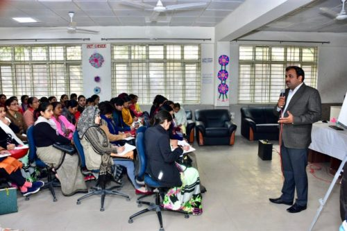 """Office of District Magistrate (East) in association with DLSA(East) under the """"Beti Bachao Beti Padhao""""  Scheme, organised Training  Programmes for Aaganwadi and Asha Workers of East District on the topics of Legal Concept, Legal Aspect Child Abuse & etc., Gender Sensitization, Menstruation, Health & Hygiene & PC & PNDT on 17.01.19 at RSKV Janki Devi School, Mayur Vihar, Delhi  by deputing One  Legal Aid Counsels,  Dr. Surbhi Singh, & Dr. Satyajeet as Resource Persons. Secretary (DLSA)/East also addressed and interactive session with the participants."""