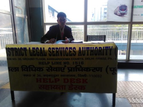 DLSA (East) in association with Authorities of DMRC and other Stakeholders, have set up Legal Held Desks and organised Nukkad Nataks on various issues related to Women by deputing Legal Aid Counsels, Para Legal Volunteers and Nukkad Natak Team on 07.03.2019 at New Ashok Nagar Metro Station.