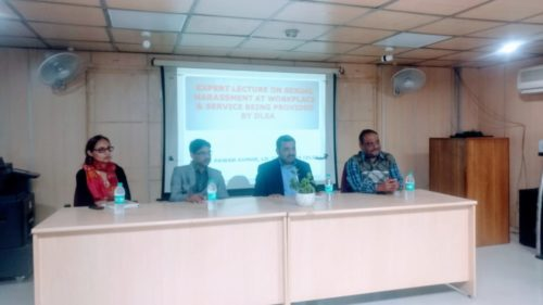"""In compliance of directions of Delhi State Legal Services Authority and as directed by the Ld. District & Sessions Judge/Chairman(DLSA)/East, Karkardooma Courts, Delhi with a view to celebrate """"International Women's Day"""",  DLSA (East) in association with Bhai Parmanand  Institute of Business Studies organised an Awareness-cum-Sensitisation Programme  on the topic """"Sexual Harassment at Workplace  & Services being provided by DLSA""""  be for the teacher  & students of the Institute on 06.03.2019. Secretary (DLSA/East KKD) himself visited  the institute as Resource Person."""