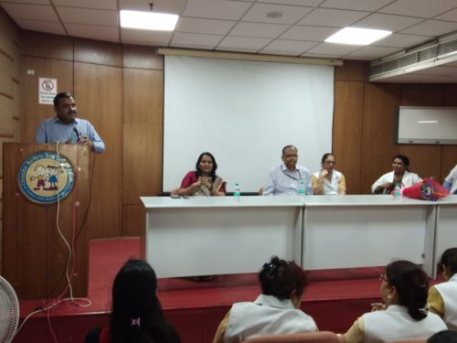 """Awareness  Programme on the topic """"Protection of Women from Sexual Harassment at Workplace"""" at Chacha Nehru Bal Chikitsalaya, Govt. Of NCT of Delhi, Geeta Colony, Delhi"""