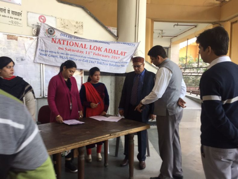 DLSA North organized a National Lok Adalat on 11.02.17 at Rohini Courts