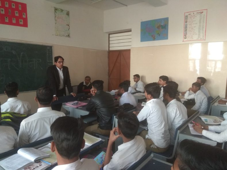 Legal Literacy Programme at GBSSS, Block-D, Jhangirpuri,Delhi.