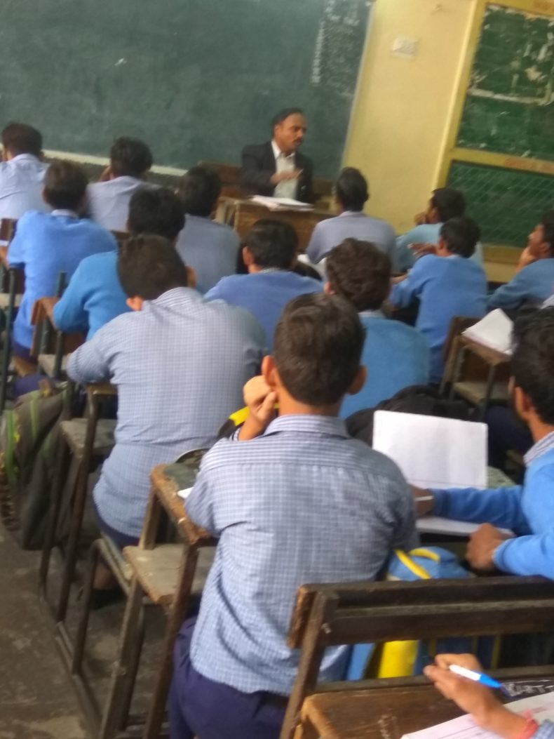 Legal Literacy Programme at GBSSS, Pratap Nagar,Delhi.