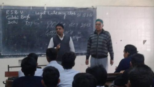 North DLSA, Rohini Courts organized a Legal Literacy Programme at Sarvodya Bal Vidyalaya, Gulabi Bagh, Delhi.