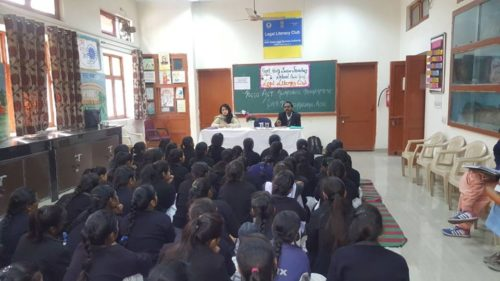 North DLSA, Rohini Courts organized a Legal Literacy Programme at Govt.Girls Sr.sec.School,Chabi Ganj, Kashmiri Gate,Delhi.