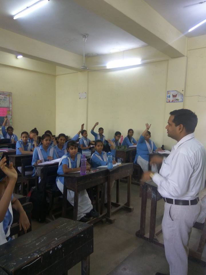North DLSA, Rohini Courts organized a Legal Literacy Programme at Govt. Girls Senior secondary School, Niclson Road,Delhi.
