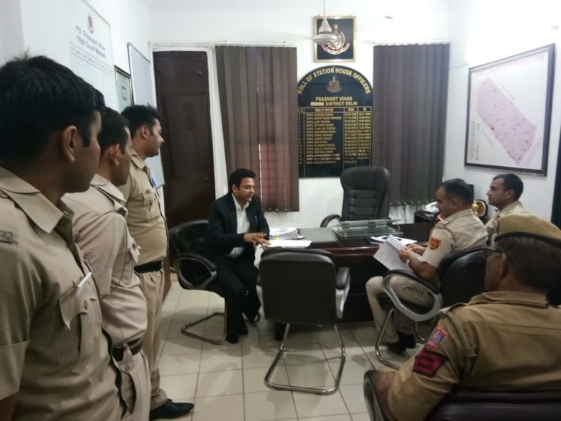 DLSA, Rohini Courts organized a Legal Literacy Programme at Prashant Vihar, Police Station, Delhi